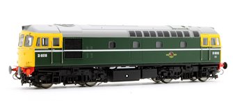 Class 33/0 ' Crompton' D6518 in BR Green wit Full Yellow Ends (Early Exhaust)